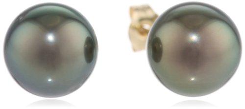 14k Gold Tahitian Cultured Pearl Earrings