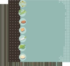 Double-sided Passover Scrapbooking Paper- Retro Seder Plate