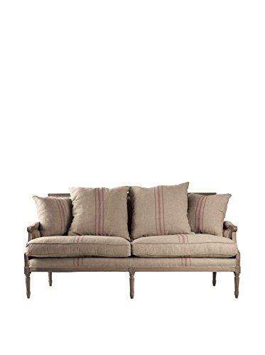 Zentique Louis Sofa, Khaki/Red/Brown