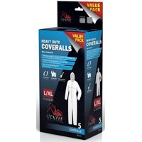 Heavy Duty Coveralls, 5 Pk