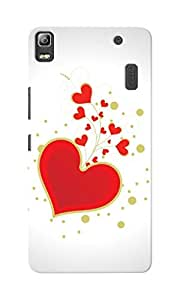 CimaCase Hearts Designer 3D Printed Case Cover For Lenovo A7000