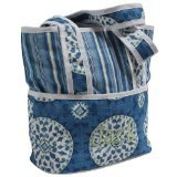 Hoohobbers Tote Diaper Bag, Blue Medallion