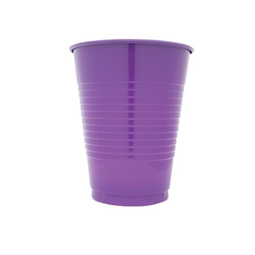 Creative Converting 600 Count Case Touch Of Color Plastic Cups, 16-Ounce, Purple