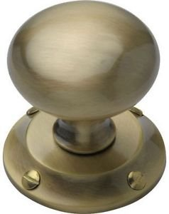Mortice Door Knob - Antique Brass - 1 Pair from New A-Brend