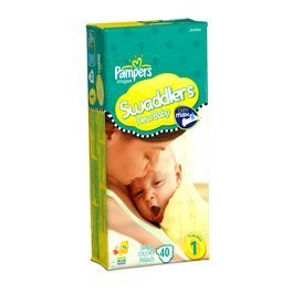 Pampers Swaddlers Original Diapers - Size 1 - 40 ct