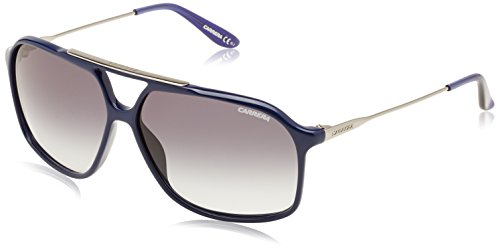 Carrera - Occhiali da Sole 81 JJ, Unisex adulto, Lenti: Grey Faded, Montatura: Blue Ruthenium (0RT), 63