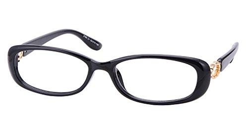 Comfortsight Black Gold Unbreakable Polycarbonate Eye Glass Frame For Women