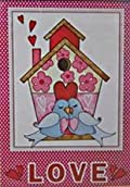 Love Birds Valentines Day Garden Flag