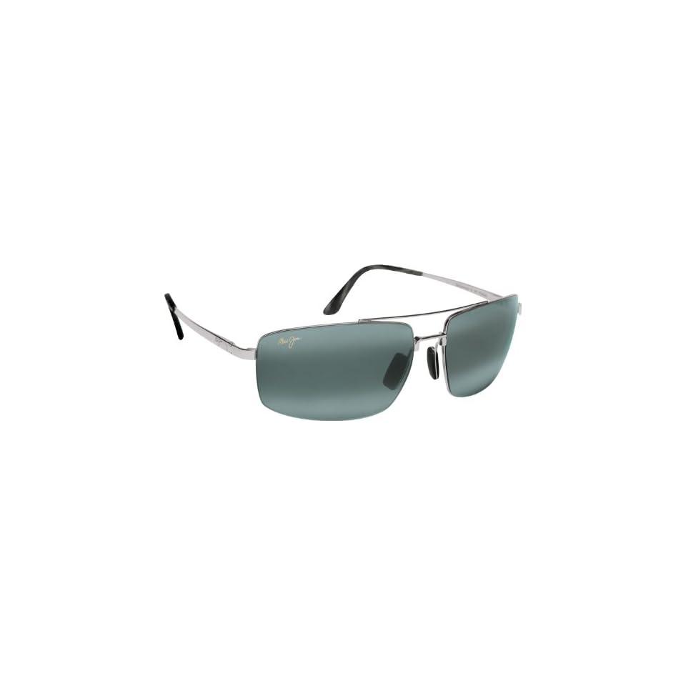 Maui Jim Sandalwood 217 Sunglasses, Silver/Grey Lens, Sunglasses