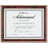 DAX Gold-Trimmed Document Frame with Certificate, Wood, 8.5 x 11 Inches, Mahogany (N2709N7T)