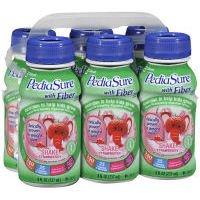 Pediasure Balanced Nutrition Beverage With Fiber, 8 Fl. Oz. Bottles, Strawberry, 6 Ea