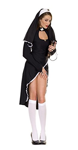 Sexy Black nun Clothes Cosplay Costume