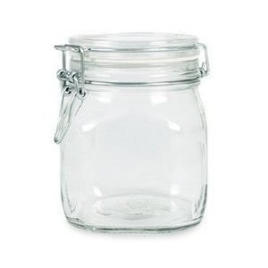 6 Pack Bormioli Rocco Fido Glass Canning Latch Lid Jar 1L (37 Ounce) (Jar Latch compare prices)