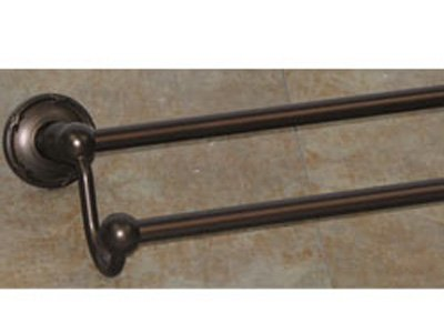 Kingston Brass BA1163PB Vintage 24-Inch Dual Towel Bar Polished Brass
