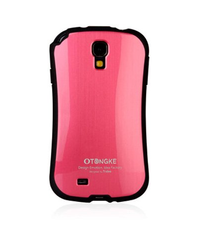 French Bumper, S4 Samsung Galaxy Metallic Stitch Carrying Case, Mobile Cover In 5 Colors (Metallic Hot Pink)