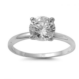 Solitaire 18K White Gold GP 2.0ct Simulated Diamond Engagement Ring (6)