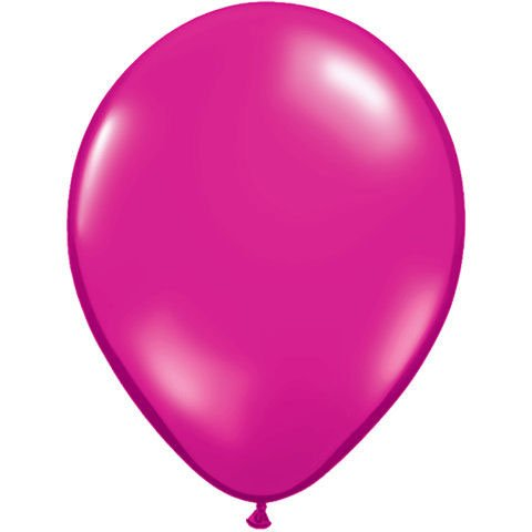 "11"" Magenta Jewel Tone Balloons (10 ct) (10 per package)"
