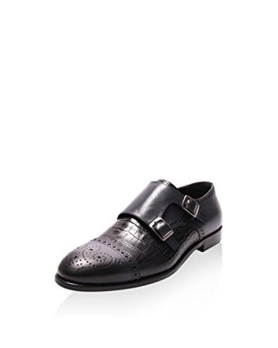 Reprise Zapatos Monkstrap Picados Negro
