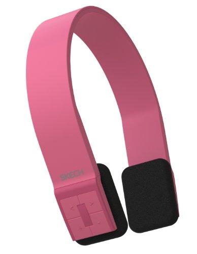 Skech Bluepulse Bluetooth Handsfree Calling Wireless Headphones W/Mic For Iphone 5S, 5C, 5, 4S, 4, Samsung Galaxy S4, S3, S2, S - Pink