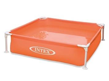 7 intex piscine tubulaire tubulaire carr e intex x 1 22 x x 0 30 m orange. Black Bedroom Furniture Sets. Home Design Ideas