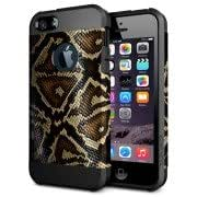 Snake Skin Pattern PC + TPU Colorful Armor Hard Case for iPhone 6