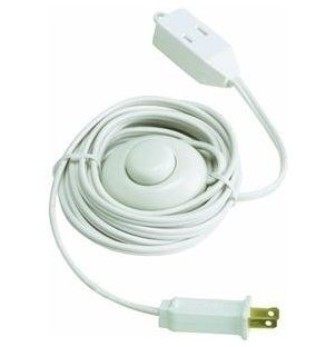Lighted Foot Switch Extension Cord (15 Ft)- Set of 3