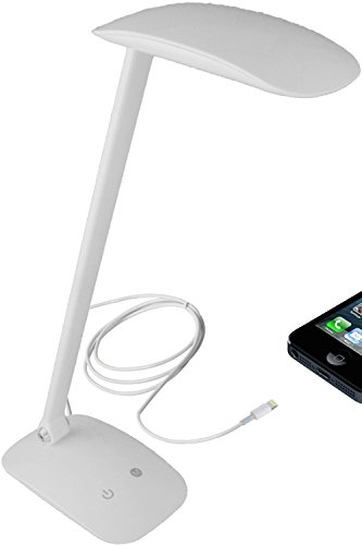 Newhouse Lighting Nhmlp-Wh Adjustable Color Touch Dimming Led Desk Lamp With Usb Charging Port