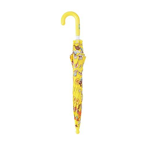 【正規輸入品】 パトリア 子供用 それいけ!アンパンマン 全3色 長傘 手開き イエロー 8本骨 40cm 90~100cm 安全傘 A6300-50