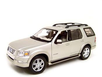 Buy 2006 Ford Explorer Eddie Bauer Silver 1:18 Diecast Model