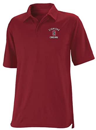Buy NCAA Stanford Cardinal Mens Dri-Power Solid Polo by Russell Athletic