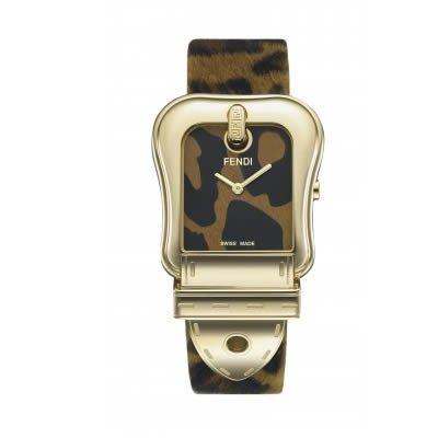 Fendi Women's F375122 Animal Print Leather Analog Watch