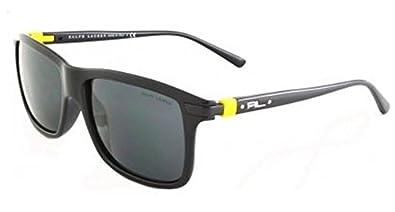 Ralph Lauren Polo 4084 Shiny Black Frame/Grey Lens Plastic Sunglasses