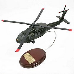 Sikorsky UH-60 Black Hawk Handcrafted Quality Desktop Helicopter Wood Model Display