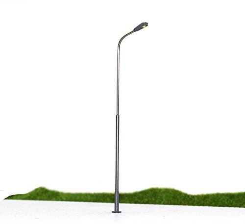 Evemodel LQS08 10pcs Model Railroad Train Lamp Post Street Lights HO OO Scale LEDs NEW
