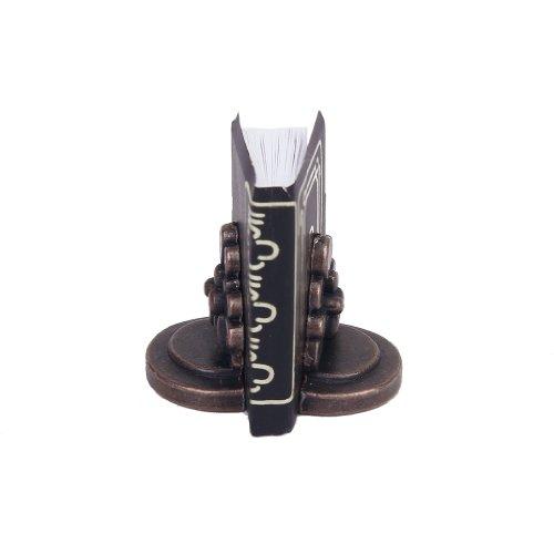 1/12 Puppenhaus Miniatur schwarzes Buch mit zwei Bücherregal