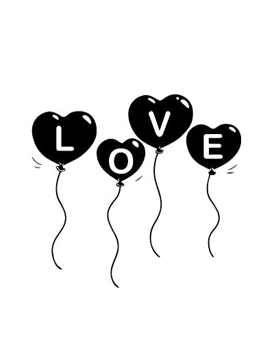 ZZ-Ambiance-sticker Vinilo Decorativo Baloon Love