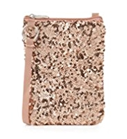 Sequin Embellished Phone Bag