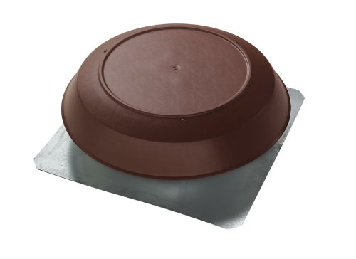 Broan 356BR1600 CFM Roof Mount Powered Attic Ventilator, Brown PVC Dome