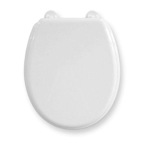 WC-Sitz Bingo weiß | Toilettensitz | WC-Brille aus Holz | Edelstahl-Scharnier