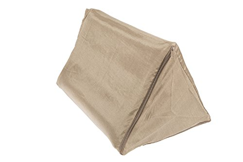 Bezug aus glänzendem Stoff für Dreieckskissen mit Reißverschluss, Farbe: Sand (ca:30x50x30cm)