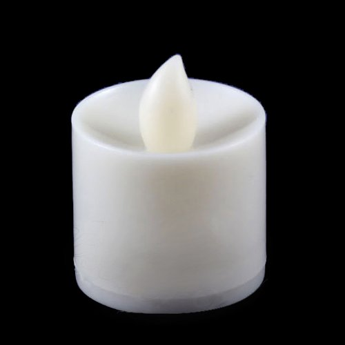 24 Flickering White Candle Set Runs on Batteries