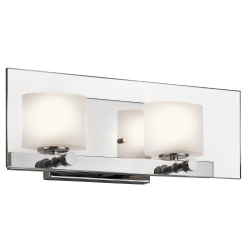 45171Ch Como 2-Light Vanity Fixture, Chrome Finish With Sat-Inch Etched Opal Glass And Clear Glass front-1080475