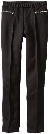 Amy Byer Big Girls' Skinny Knit Pant, Black, Medium