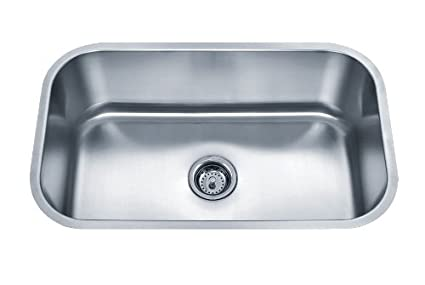 Wells Sinkware SSU3018-9-1 18-Gauge Undermount Single Bowl Kitchen Sink Package, Stainless Steel