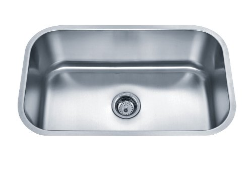 Wells Sinkware SSU3018-9-1 18-Gauge Undermount Single Bowl Kitchen Sink Package, Stainless Steel (18 Gauge Stainless Steel Pot compare prices)