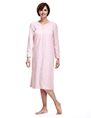 Floral Spotted Fleece Nightdress