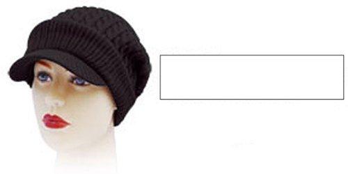 Strickmütze Mütze LONG BEANIE Slouch RASTA Visor W16-39, SCHWARZ/W16-43