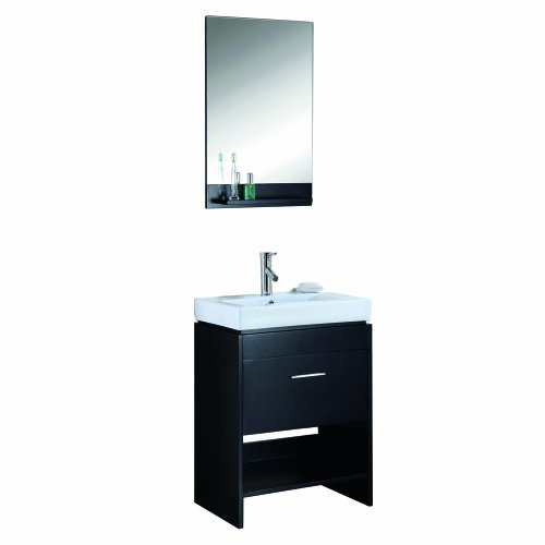 Marvelous Compare ue ue Virtu USA MS C ES Gloria Inch Single Sink Bathroom Vanity Set with Shelf Espresso Finish