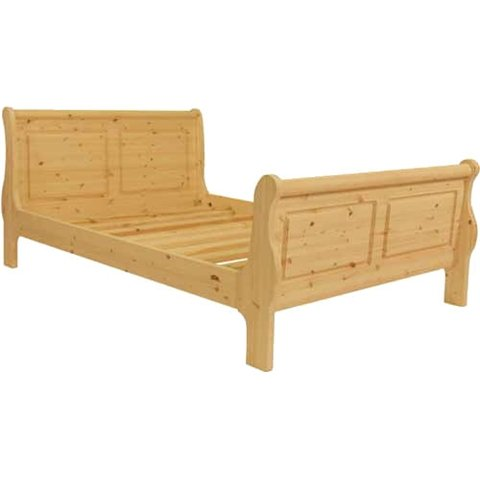 3FT SINGLE PINE BED - 3FT ISOBEL PINE SLEIGH BED