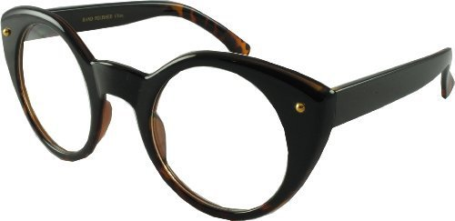 Revive Eyewear Men's Hollywood Style 40's / 50's Geek Black Frame/ Clear Lens Non Polarized Glasses 50